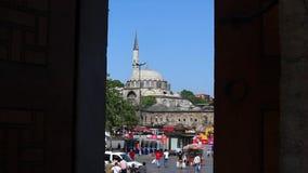 Moskee bij Ochtend in Turkije longshot stock videobeelden