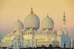 Moskee bij zonsondergang Royalty-vrije Stock Afbeeldingen