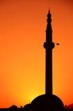 Moskee bij zonsopgang in Skopje royalty-vrije stock afbeelding