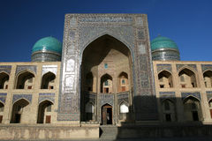 Moskee in Boukhara, Oezbekistan royalty-vrije stock foto