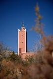Moskee in de Atlasbergen van Marokko Stock Afbeeldingen