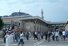 Moskee in de viering van Romeduring eid Stock Afbeeldingen