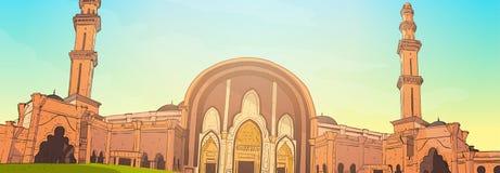 Moskee die Ramadan Kareem Muslim Religion Holy Month bouwen Stock Fotografie