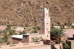 Moskee en dorp Stock Fotografie