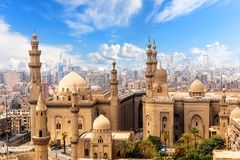 Moskee en Madrasa van Sultan Hasan in Kaïro, Egypte royalty-vrije stock fotografie