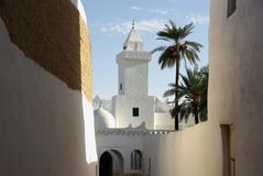 Moskee in Ghadames, Libië Stock Afbeeldingen