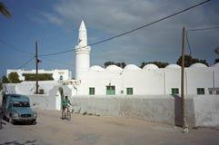 Moskee, Houmt Souk, Jerba, Tunesië Royalty-vrije Stock Afbeeldingen