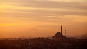 Moskee in Instalbul Turkije Stock Afbeelding