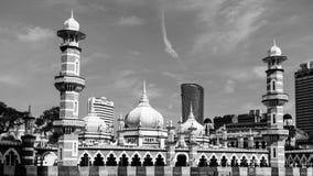 Moskee Jamek in Kuala Lumpur Royalty-vrije Stock Foto's
