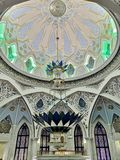 Moskee kul-Sharif binnen stock afbeelding