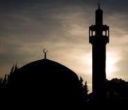 Moskee in Londen bij sunnset. Stock Afbeelding