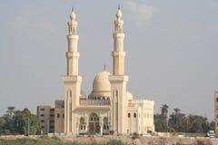Moskee in Luxor langs de Nijl stock afbeelding