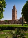 Moskee in Marrakech stock afbeeldingen