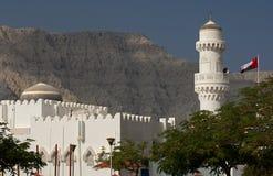 Moskee met koepel en minaret royalty-vrije stock foto