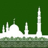 Moskee met Minaret royalty-vrije illustratie