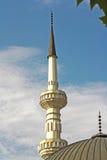 Moskee met twee minaretten Stock Foto