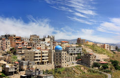 Moskee in moslimkwart van Nazareth Stock Fotografie