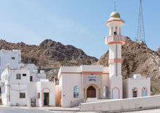 Moskee in Muscateldruif, Oman Royalty-vrije Stock Afbeeldingen
