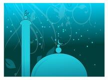Moskee in nacht vector illustratie