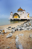 Moskee op water Stock Fotografie