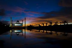 Moskee op zonsopgang Royalty-vrije Stock Fotografie