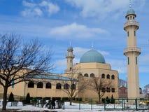 Moskee in Sneeuw Royalty-vrije Stock Foto's