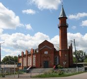 Moskee in stad Lyambir dichtbij Saransk De Republiek van Mordovië Russische Federatie Royalty-vrije Stock Foto's