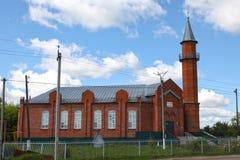 Moskee in stad Lyambir dichtbij Saransk De Republiek van Mordovië Russische Federatie stock afbeelding