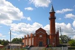 Moskee in stad Lyambir dichtbij Saransk De Republiek van Mordovië Russische Federatie Royalty-vrije Stock Afbeelding