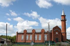 Moskee in stad Lyambir dichtbij Saransk De Republiek van Mordovië Russische Federatie Stock Foto