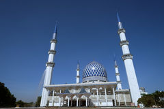 Moskee Sultan Salahuddin Abdul Aziz Shah Selangor Maleisië Royalty-vrije Stock Foto's