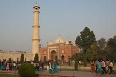 Moskee in Taj Mahal, India - November 2011 Royalty-vrije Stock Foto