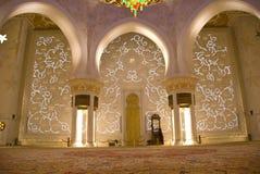 Moskee van binnenuit Royalty-vrije Stock Afbeelding