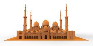 Moskee van de achtergrond Royalty-vrije Stock Foto's