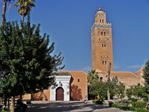 Moskee van Marrakech stock foto's