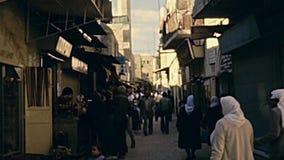 Moskee van Omar Minaret stock footage
