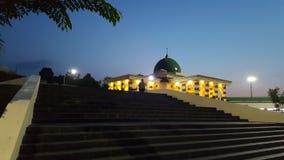 Moskee wanneer nacht komst stock afbeeldingen