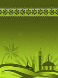 Moskees tegen sterrige nacht Royalty-vrije Stock Fotografie