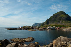 Moskenes in Lofoten Stockfotografie