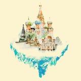 moskou Royalty-vrije Illustratie