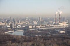 Moskou in april Stock Foto's