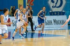 De verdediger Ilona Korstin van de dynamo (nummer 10) Stock Foto
