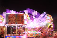 Fairground by night Royalty Free Stock Photos