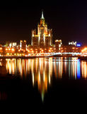 Moskou bij nacht Stock Foto's