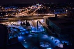 Moskou bij nacht Royalty-vrije Stock Afbeeldingen