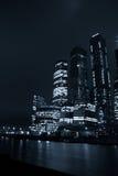 Moskou bij nacht in de winter Royalty-vrije Stock Afbeeldingen