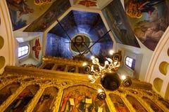 moskou Binnenland van St Basil's Kathedraal Royalty-vrije Stock Fotografie