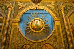 moskou Binnenland van St Basil's Kathedraal Stock Afbeeldingen