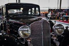 MOSKOU - BRENG 09, 2018 IN DE WAR: Buick-Model 57 1933 bij tentoonstelling Oldti royalty-vrije stock foto's