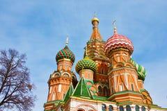 moskou Buitenkant van St Basil's Kathedraal Royalty-vrije Stock Foto's